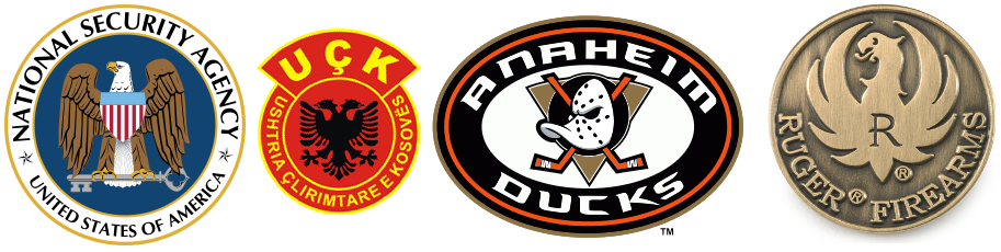 Logos: NSA, UÇK, Anaheim Ducks, Sturm, Ruger & Co.