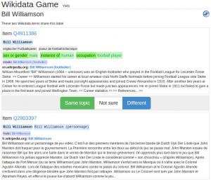 Screenshot Wikidata Game